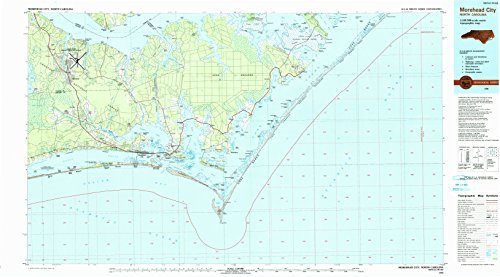 City NC topo map, 1:100000 Scale, 30 X 60 Minute, Historical, 1990, Updated 1990, 24.1 x 43.5 in - Polypropylene ()