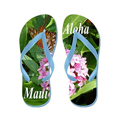 CafePress - Passion Vine Butterfly - Flip Flops, Funny Thong Sandals, Beach Sandals Caribbean Blue