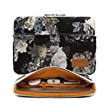 Best Zipper Pockets For Laptops - Canvaslife Black peony pattern 360 degree protective 13 Review