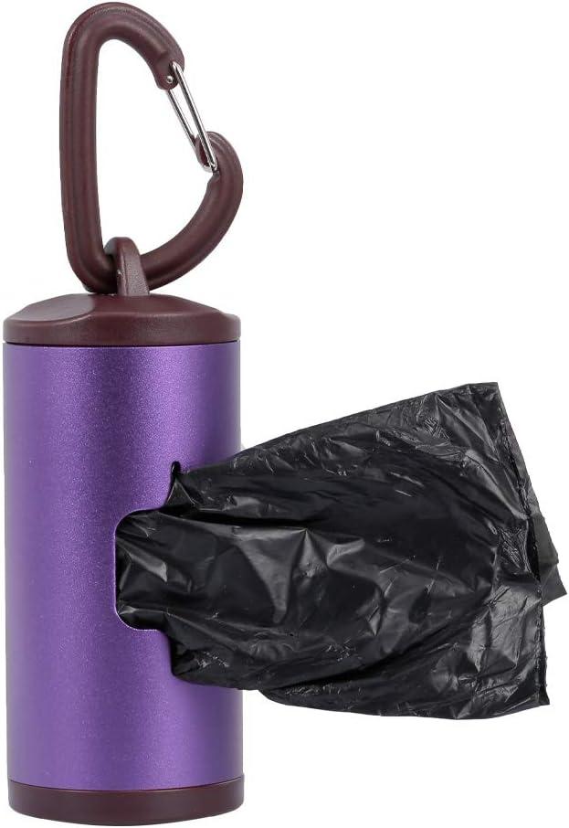 Que Tiene un Colorido Soporte para Mascotas Incluye Bolsas de desechos de 15 Piezas Recargables Montloxs El Tubo de Aluminio del dispensador de desechos para Perros de Holder