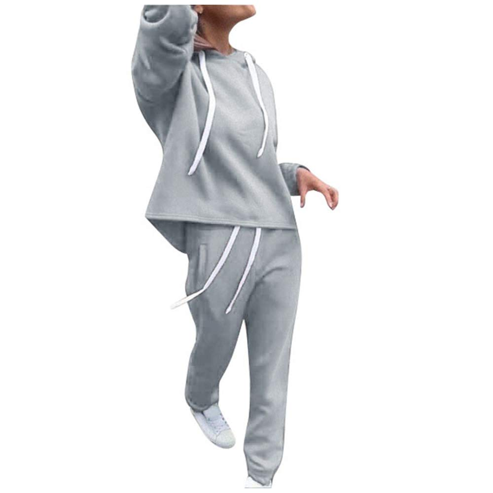 Clacce Damen Yoga Kleidung Anzug Trainingsanzug Laufbekleidung Gym Fitness Kleidung Lange Ärmel Zipper Top + Lange Hose Sportswear 2 Stück Set Sport Yoga Outfit