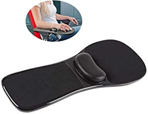 Ergonomic Arm Rest Adjustable Mouse Pad with Wrist Support Gel Armrest Wrist Rest Attachment Arm Pad for Chair - Home & Office