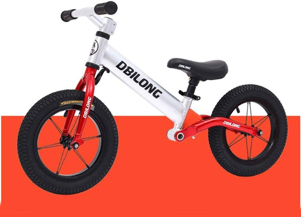 Sin Pedal Caminar Equilibrio Bicicleta de Entrenamiento de Bicicletas Niños Primero Bicicletas, Bicicletas niños pequeños con Amortiguador, Dirección límite, Apto for niños de 2-7, Negro, B ZHANGKANG