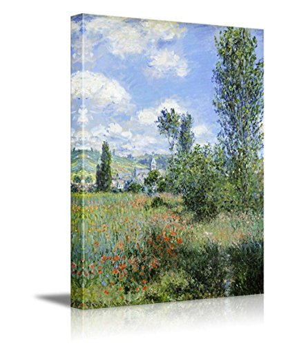 View of Vetheuil by Claude Monet Impressionist Art
