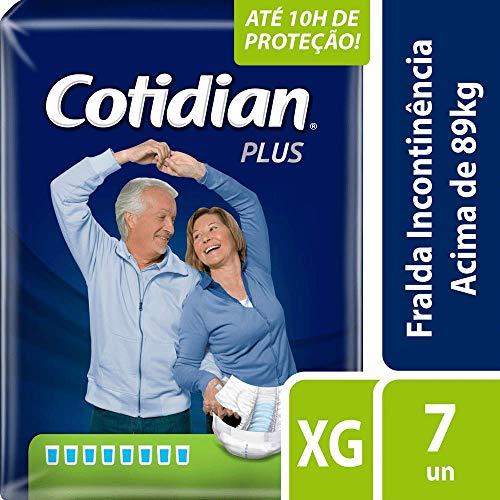 Fralda Adulto Cotidian Plus Xg com 7 Unids, Cotidian, Azul Escuro, Extra Grande