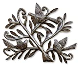 Nesting Birds, Haitian Metal Art, Tree of life, Recycled Oil Drum 19.5″ x 15″