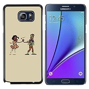 EJOOY---Cubierta de la caja de protección para la piel dura ** Samsung Galaxy Note 5 5th N9200 ** --Weird Apocaluptic Amor