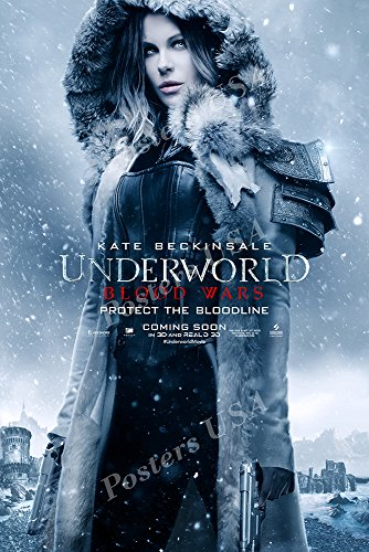 "Posters USA - Underworld Blood Wars Movie Poster GLOSSY FINISH - MOV378 (24"" x 36"" (61cm x 91.5cm))"