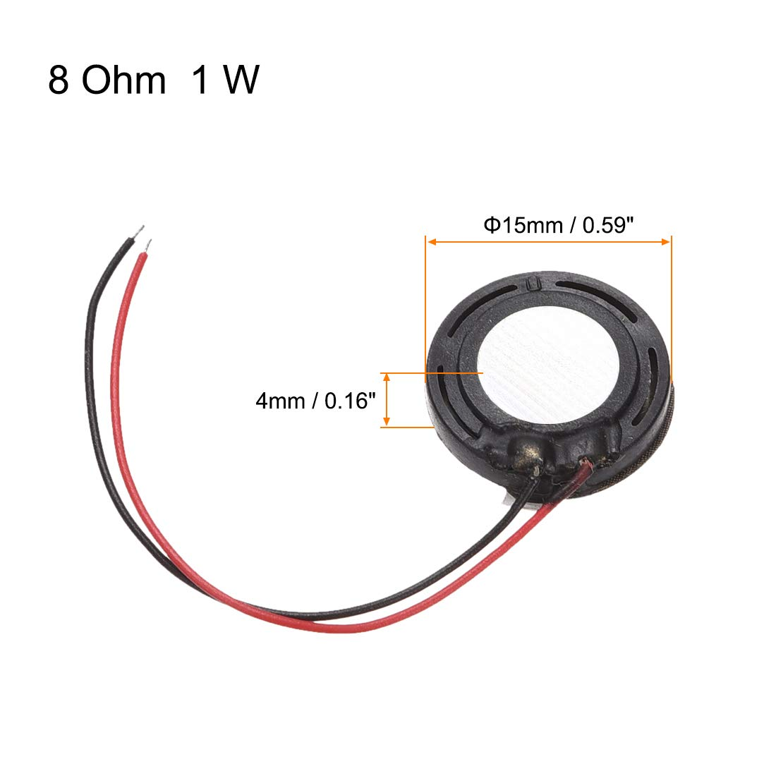 uxcell 1W 8 Ohm Mini DIY Magnetic Speaker Replacement Loudspeaker 15mm for Mobile Phone