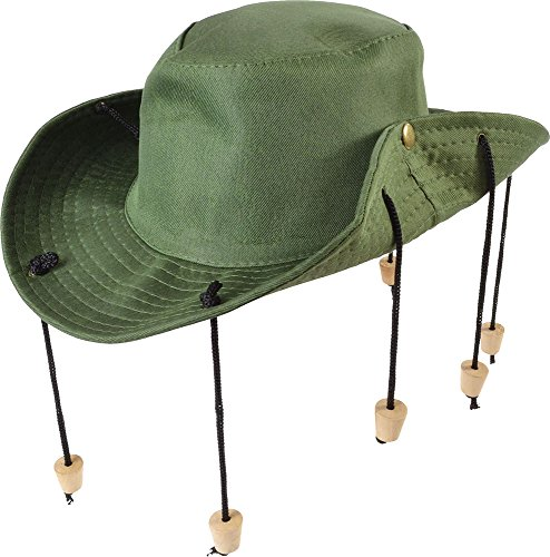 Aussie Outback Hats (Unisex Australian Halloween Fancy Party Accessory Aussie Outback Hat With Corks)