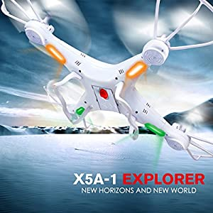 DoDoeleph Syma X5A-1 Explorers 2.4Ghz 4CH 6-Axis Gyro RC Quadcopter Toys Drone RTF Without Camera by DoDoeleph