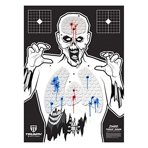 Triumph Systems Threat Down Zombie 3 Pack Threat Down Zombie Silhouette | 3 Pack | Zombie Target | Life Size Target | Highly Visible Target| for Shooting | Short Range Target