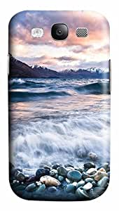 Stones Beach Wave Mountains Clouds PC Case Cover for Samsung Galaxy S3 I93003D