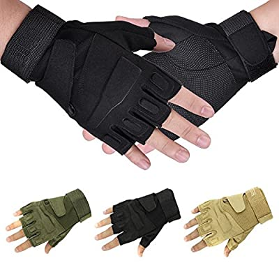 NSSTAR Military Half-finger Fingerless Tactical Airsoft Hunting Riding Cycling Gloves
