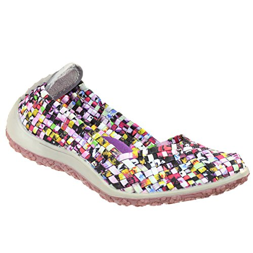 Mosaic Spice - Zee Alexis Spice Womens Woven Slip On Shoes Mosaic Multi (7.5 B(M))