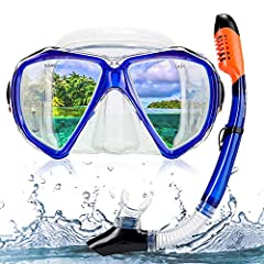 Snowledge Snorkel Set is easily adjustable, has a low inner volume, which is very suitable for deep free diving, and the mask adapts easily to a large number of face types. Fashion and stylish design, it is suitable for both men and women. Th...