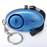 Police Approved Metallic Blue Mini Minder Loud Personal Staff Panic Rape Attack Safety Security Alarm with Torch 140db - Secured by Design Approved (Police Preferred Specification) - FREE SHIPPING to all UK (excluding Channel Islands)