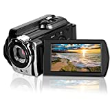 Video Camcorders, CamKing 6053 Portable Digital Video Camera Max 24.0 MP 1080P Camcorder HD Support WIFI and IR 3.0 Inches Touch Screen Camera Recorder