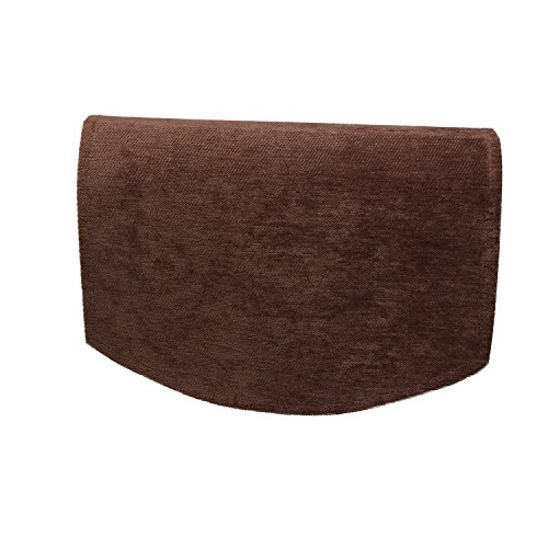 Classic Home Store Chenille Jumbo Chair Back Plain Soft Touch Antimacassar Sofa Furniture Cover (Brown)