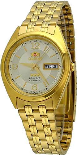 21 Automatic Jewels Orient - Orient #FAB0000CC Men's 3 Star Standard Gold Tone Champagne Dial Automatic Watch