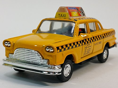 Classic New York City 1963 Checker Yellow NYC Taxi Cab 1/43 O Scale Diecast Commercial Car
