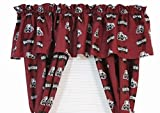 Mississippi State Bulldogs - Set of (2) Printed Curtain Valance/Drape Sets (Drape Length 63'') To Decorate Two Windows - Save Big By Bundling!