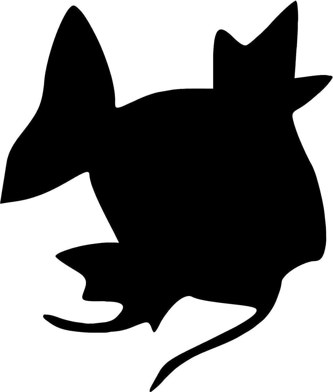 """Pokemon Magikarp 5"""" Silhouette Decal Sticker for Cars Laptops Tablets Skateboard - BLACK"""