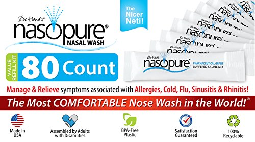 Nasopure Refill Kit Salt Packets for Nasal Wash