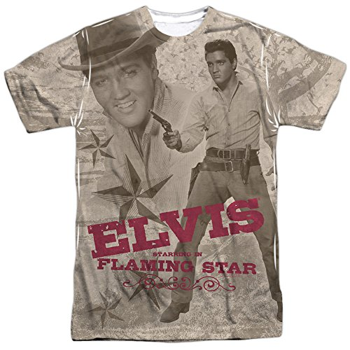Elvis Presley Sideburns (Elvis Presley - Flaming Star T-Shirt Size)