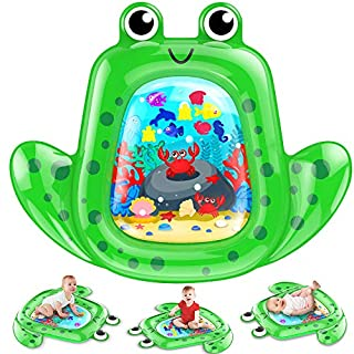 """VATOS Tummy Time Baby Water Mat 43×35"""" X-Large for 3 6 9 18 Months Newborn Infant, Inflatable Play Mat Sensory Toys Gifts for Boy Girl BPA Free Baby Early Development Activity Centers"""
