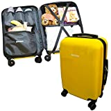Emmzoe Hardshell Baby Kids Gear 20'' Carry-On Spinner Luggage Multi-Compartment for Food, Toys, Diapers, Clothes - Security Check Friendly (Banana Yellow)