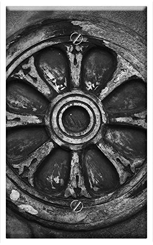 ll Plate Cover - Firenze Italy Black White Europe Fiore Travel 1 ()
