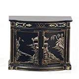 Melody Jane Dollhouse Chinese Hand Painted Black Credenza Cabinet Miniature JBM Furniture