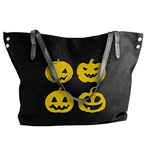 Hobo New Mexico Shoulder Head Large Bag Women's Canvas Halloween Pumpkin Black Tote Handbag BxaHq