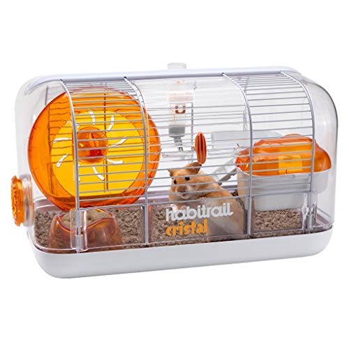 Habitrail Cristal Hamster Cage, Small Animal Habitat with Hamster Wheel, Water Bottle and Hideout