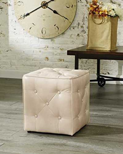 Ashley Furniture Signature Design - Jive Accent Ottoman - Tufted on 5 Sides - Contemporary Living - Taupe