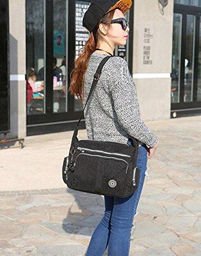 Xinweilan - Bolso mochila  de Otra Piel para mujer negro