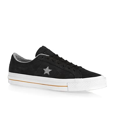 aba6e5e678eb Converse One Star Nubuck Ox Mens Sneakers Black