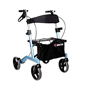 Amazon.com: Rollator Walker with Seat and Wheel Chair ...