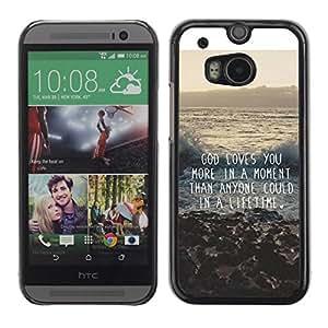 TopCaseStore / la caja del caucho duro de la cubierta de protección de la piel - Quote Inspiration - HTC One M8