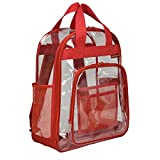 U.S. Traveler Clear School Backpack/Travel Daypack Red, One Size