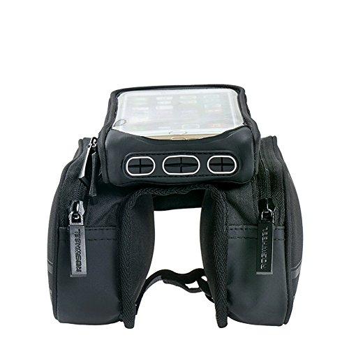 """MILKIRAY Fahrradtasche Rahmentaschen Fahrrad Rahmentasche Frarradschnalletasche mit zwei, geeignet für Handy mit Größe unten 5,7"""", Farhradlenkertasche Fahrradtasche Lenker"""