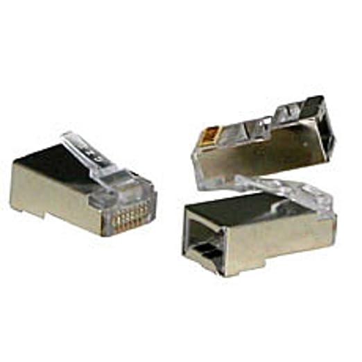 13 opinioni per Lindy RJ45 Male STP, Cat.5e RJ45 Silver wire connector- wire connectors (Cat.5e,