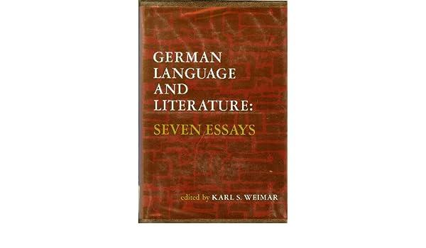 german language and literature seven essays k s weimar  german language and literature seven essays k s weimar 9780133540840 com books