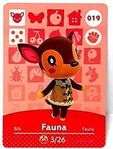 Amiibo Card FAUNA 019/100 - Tarjeta con diseño de animales: Amazon ...