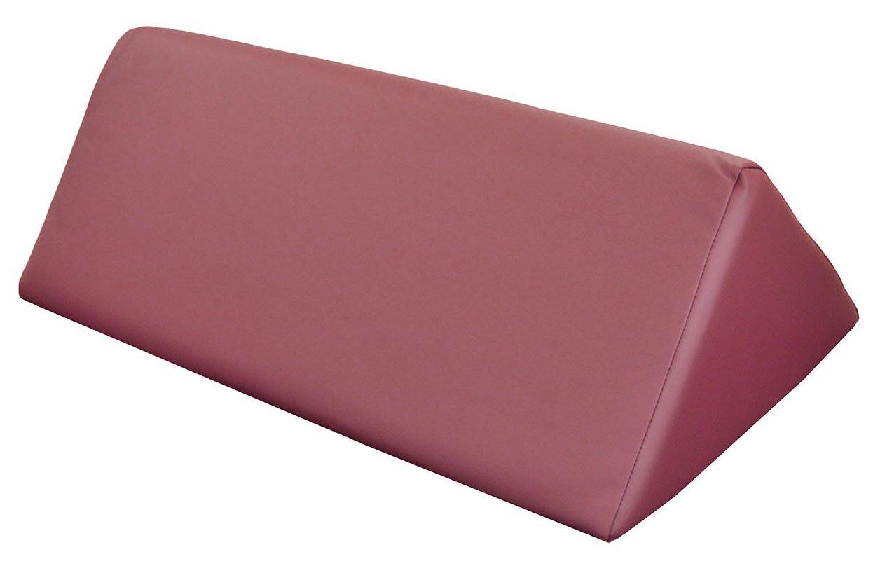 DevLon NorthWest Triangular Massage Bolster Therapy Cushion Backrest 27 Inches x 19 Inches x 10 Inches Burgundy by DevLon NorthWest