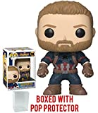 Funko Pop! Marvel: Avengers Infinity War - Captain America Vinyl Figure (Bundled with Pop Box Protector Case)