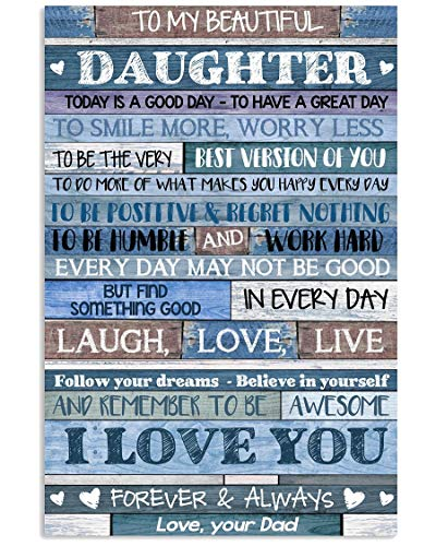DAD TO DAUGHTER Canves Pictures Costum Canvas Personalized -
