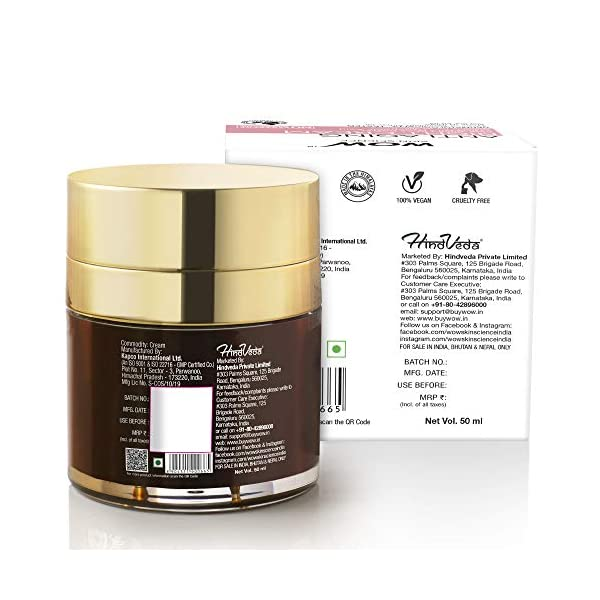 WOW Anti Aging No Parabens & Mineral Oil Night Cream, 50mL 2021 June Supremely skin rejuvenating night cream formulated for reviving aging skin Plumps up and boosts skin's elasticity, minimize fine lines and crow's feet, fades age spots, evokes natural glow Matrixyl anti aging skin care products work by stimulating collagen synthesis which is needed in order to reduce wrinkles and fine lines, especially on the facial area. Consumers will be interested in knowing that studies have shown noticeable improvement within two months of use, infused with aloe leaf juice, shea butter, olive oil and hyaluronic acid for complete anti aging care