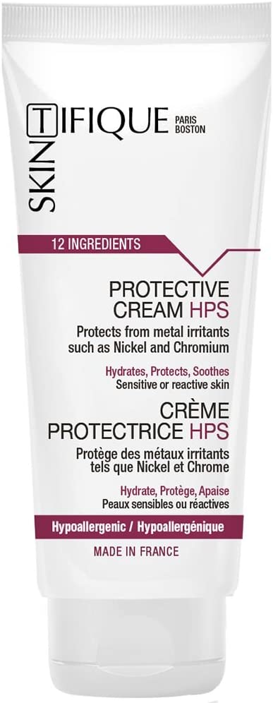 Protective Cream HPS - Unique Protection Against Metals (Nickel, Chromium…). Lasts for up to 14h. Extremely Safe & Pure Formulation. Proven Effectiveness. No Need for Nickel-Free Earrings Anymore!